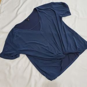 Lucky Brand Slate Blue Top Size XL